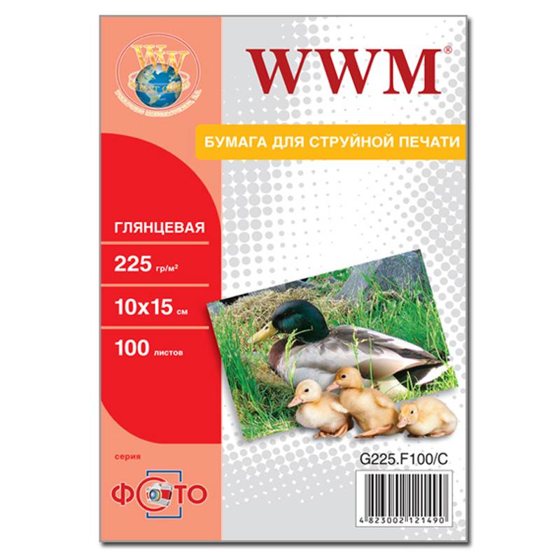 Купить Фотопапір 10х15 WWM 100 аркушів (G225.F100), G225.F100/C