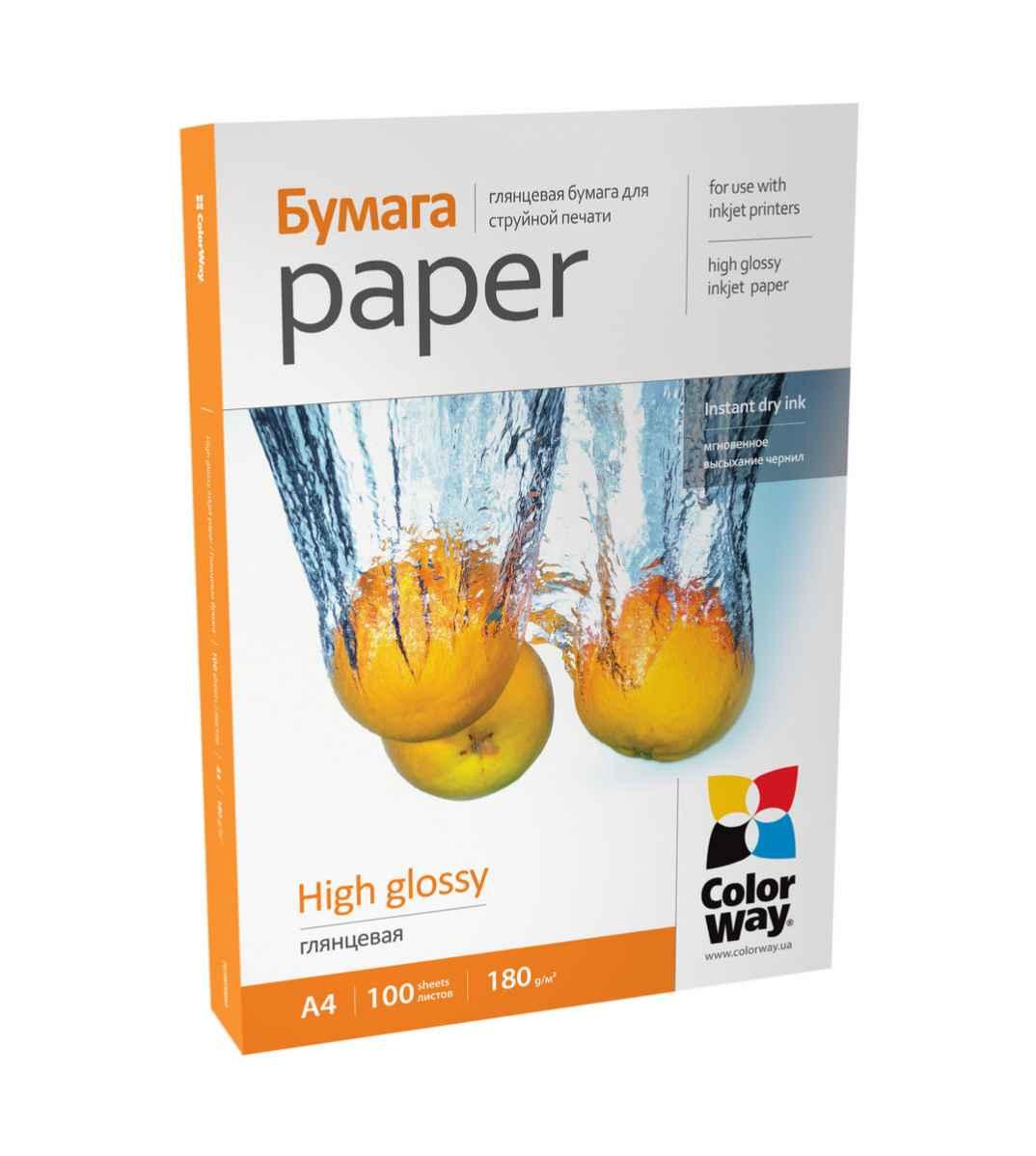 Фотопапір А4 CW PG180-100 100 аркушів (PG180100A4), ColorWay  - купить со скидкой