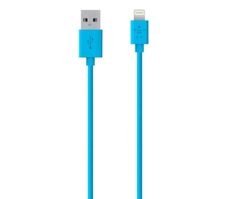Купить USB кабелі та розгалужувачі, Кабель USB Belkin MIXIT Lighthing синій, F8J023bt04-BLU