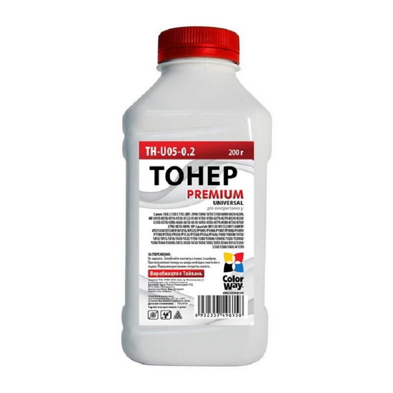 Купить Тонер ColorWay HP LJ P1005/1102/1010/2035 чорний, TH-U05-0.2