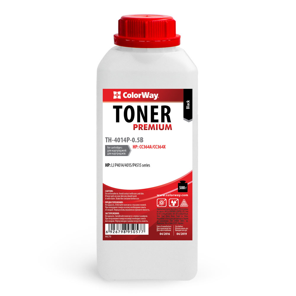 Купить Тонер ColorWay HP LJ P4014/P4015/4515 чорний, TH-4014P-0.5B
