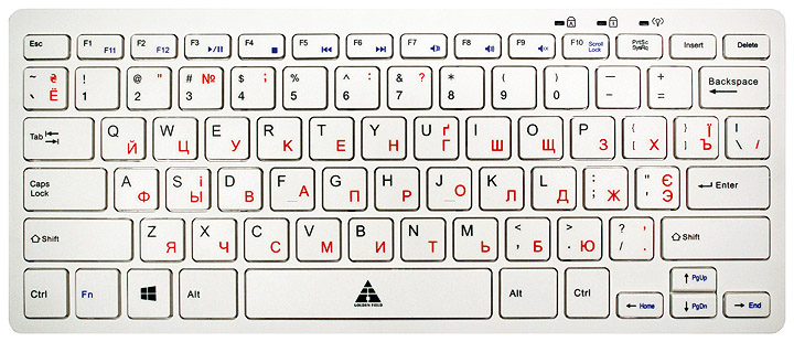 Купить Клавіатура Golden Field K111SW-USB+HUB біла, K111SW-USB+HUB USB