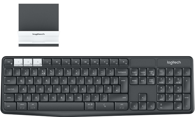 Купить Клавіатура Logitech K375s Multi-Device plus stend (920-008184)