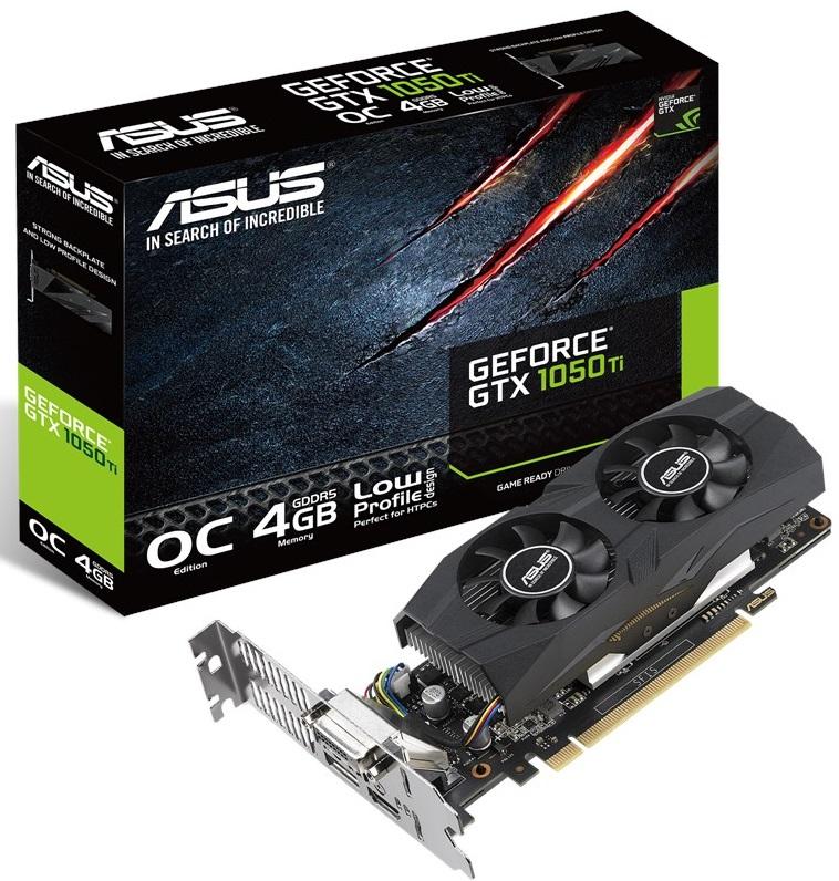 Відеокарта ASUS GTX 1050Ti OC (GTX1050TI-O4G-LP-BRK )  - купить со скидкой