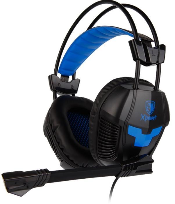Купить Гарнітура Sades SA-706 XPower Black/Blue (SA706 Black/Blue)