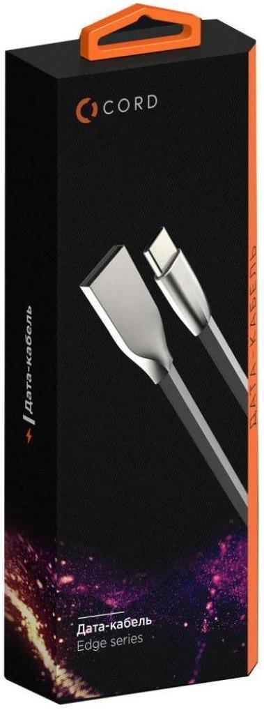 Купить USB кабелі та розгалужувачі, Кабель Cord Edge AM / Micro USB 0.2m Black (CDE-M02-1B)