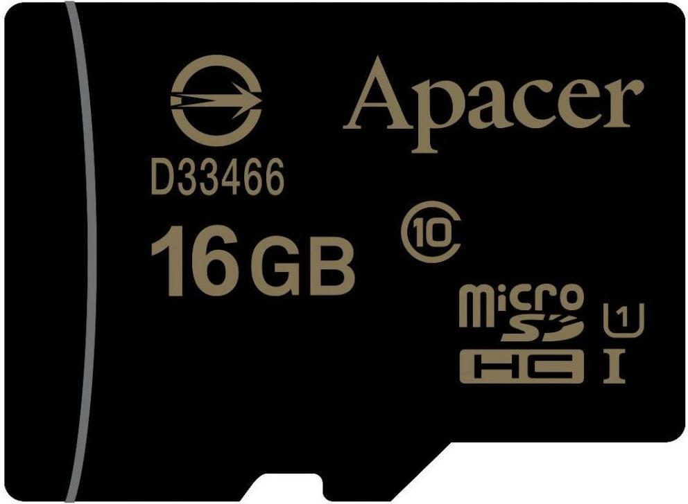 Купить Карта пам'яті Apacer Micro SDHC 16GB AP16GMCSH10U1-RA