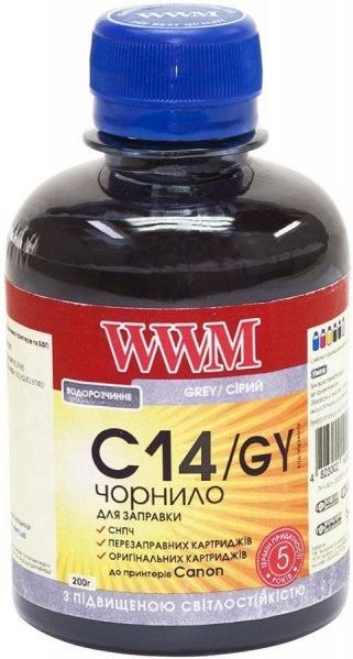 Купить Чорнило світлостійке WWM for Canon CLI-451GY/CLI-471GY - Cray 200g (C14/GY)