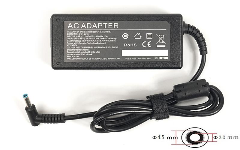 Купить Блок живлення для ноутбука PowerPlant HP 19.5V 3.33A 65W 4.5*3.0-PIN, HP65G4530