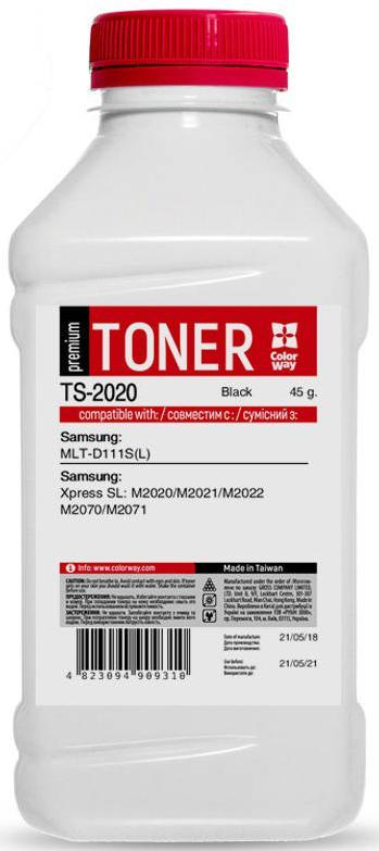 Купить Тонер Colorway for Samsung SL-M2020/2070/2870 Premium 45g Black, TS-2020
