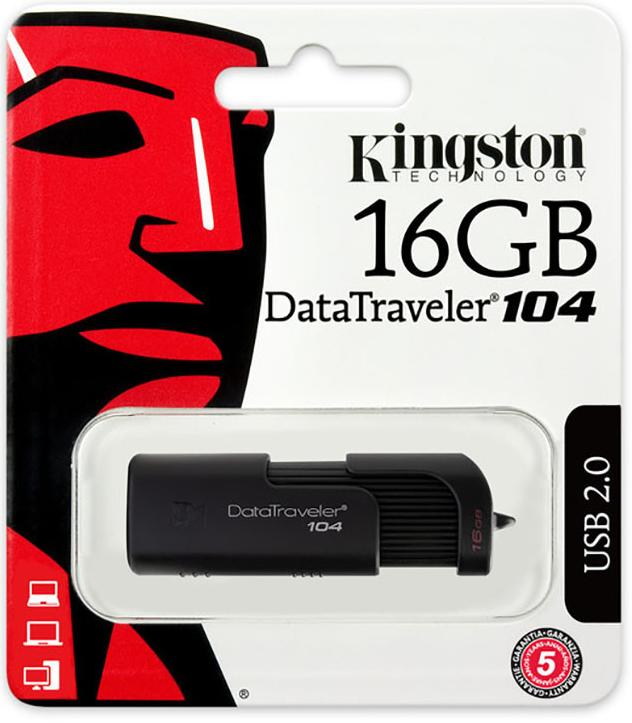 Купить Флешка USB Kingston DataTraveler 104 16GB DT104/16GB Black