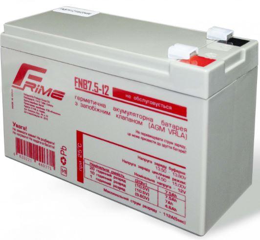 Купить Батареї для ПБЖ (UPS), Батарея для ПБЖ Frime FNB7.5-12 AGM