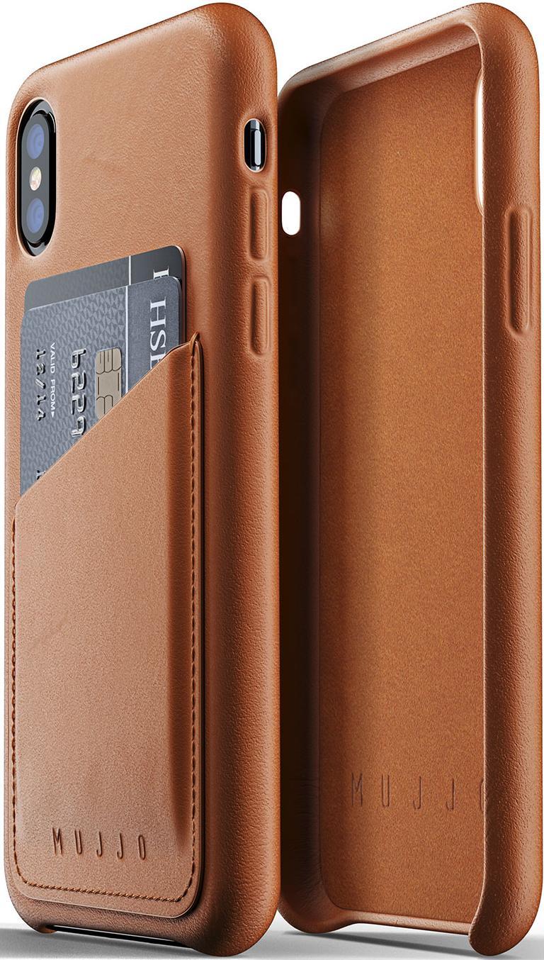 Купить Аксесуари для мобільних телефонів, Чохол MUJJO for iPhone XS - Full Leather Wallet Tan (MUJJO-CS-092-TN)