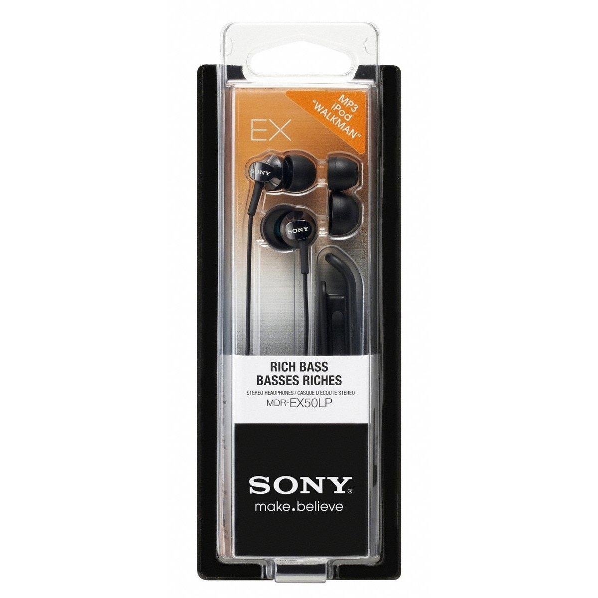 Наушники Sony MDR-EX50LP черные – купить в интернет-магазине KTC ... afa4edb27041c