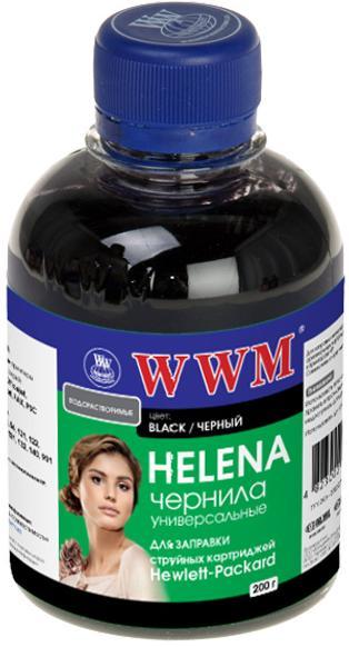 Купить Чорнила WWM HU/B HELENA HP Universal чорне, HU/B_200g