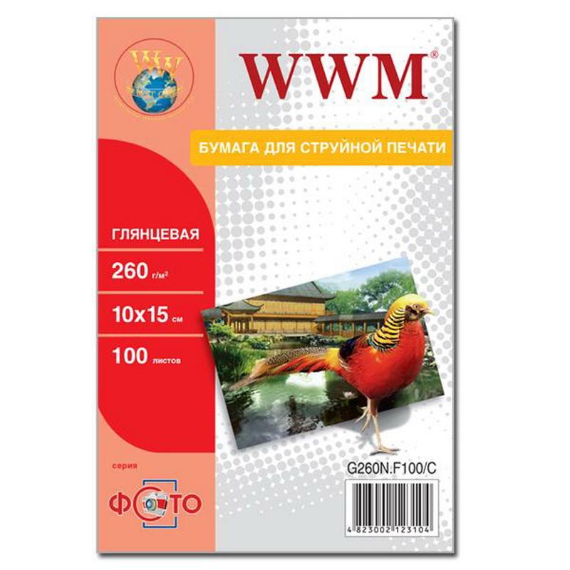 Купить Фотопапір 10х15 WWM 100 аркушів (G260N.F100)