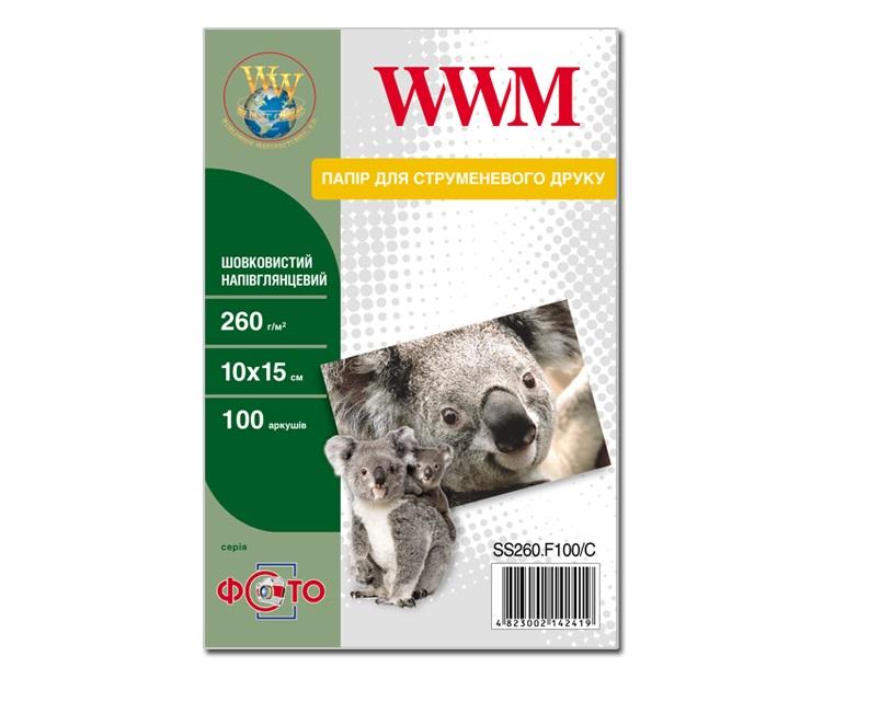 Купить Фотопапір 10х15 см WWM шовковиста 100 аркушів (SS260.F100/C)