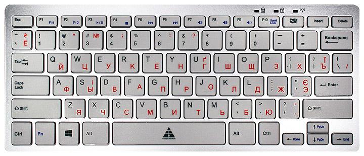Купить Клавіатура Golden Field K111SS-USB+HUB срібляста, K111SS-USB+HUB USB