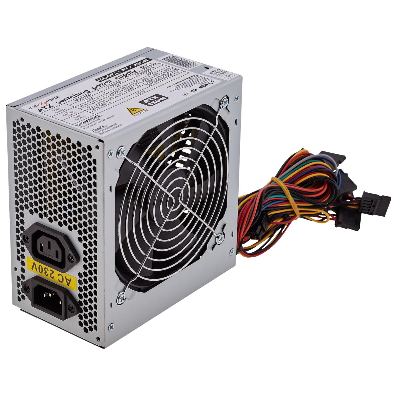 Блоки живлення для ПК, Блок живлення Logicpower ATX-450 450W (ATX-450W 12)  - купить со скидкой