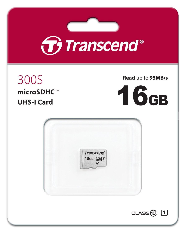 Купить Карта пам'яті Transcend 300S Micro SDHC 16GB TS16GUSD300S