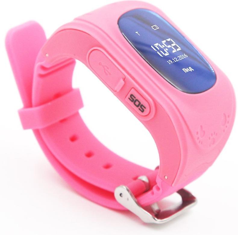 Купить Смарт годинник GOGPS.ME K50 with SIM Kyivstar and GPS Pink (K50PK)