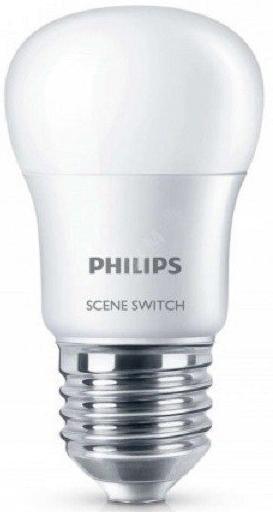 Купить Лампа світлодіодна Philips Scene Switch 2Step E27 6.5-60W 6500K 230V P45, 929001209007
