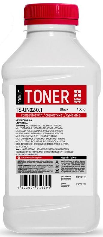 Купить Тонер Colorway for Samsung Universal Premium 100g Black, TS-UN02-0.1