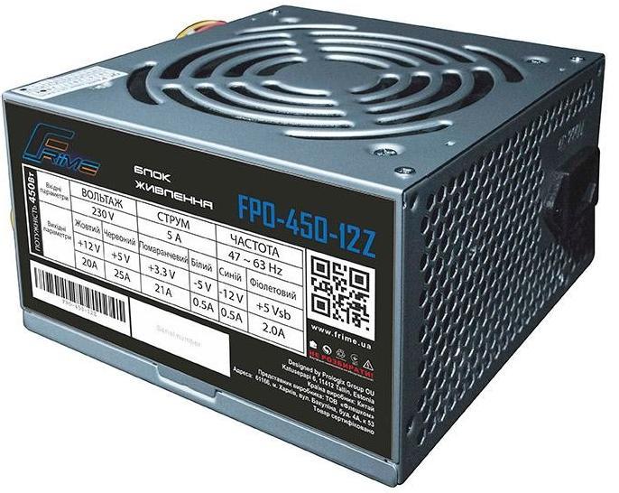 Купить Блоки живлення для ПК, Блок живлення Frime FPO-450-12Z 450W