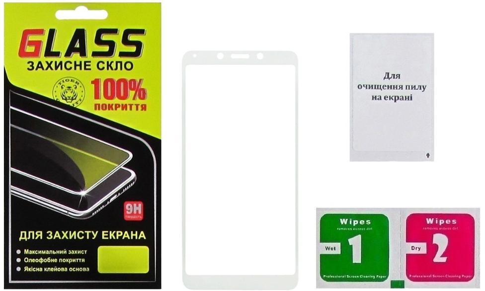 Купить Аксесуари для мобільних телефонів, Захисне скло Masterclub for Xiaomi Redmi 6 / 6A - Full Glue White (15285)