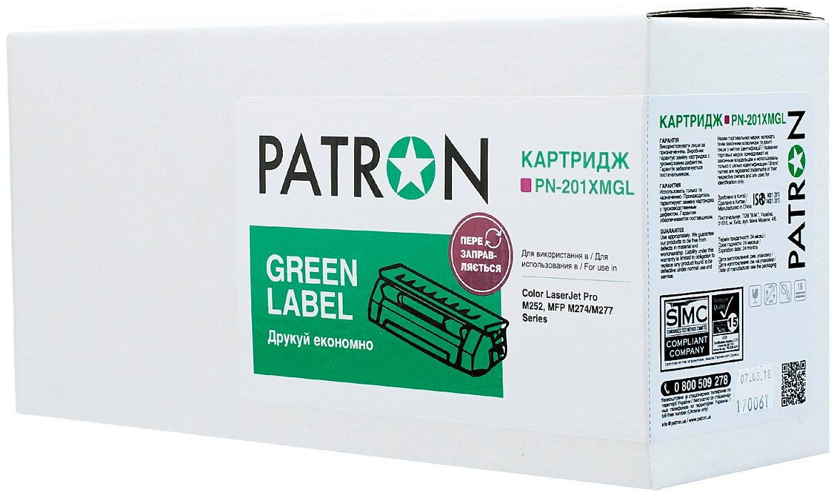 Картридж Patron for HP CLJ CF403X Magenta Green Label