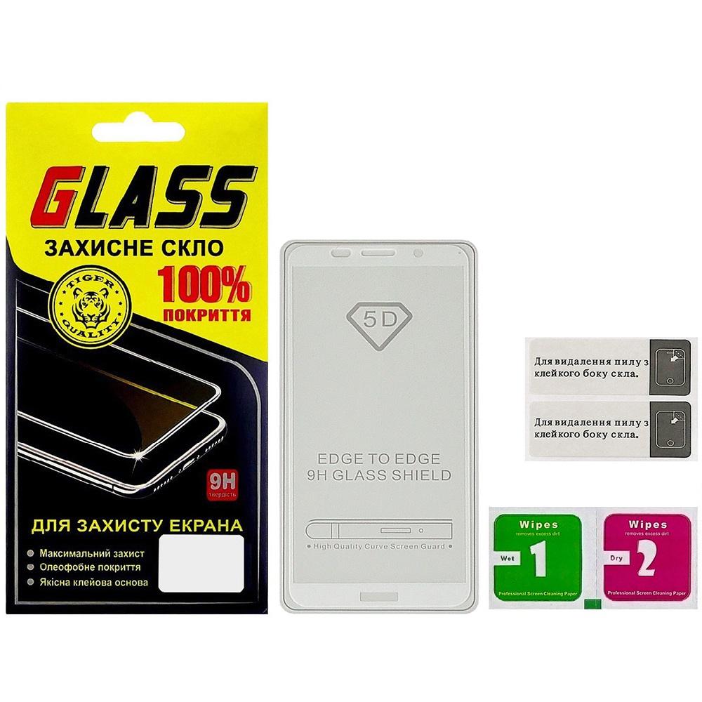 Купить Аксесуари для мобільних телефонів, Захисне скло Masterclub 2.5D for Huawei Y5 2018 / Honor 7S - Full Glue White (15788)