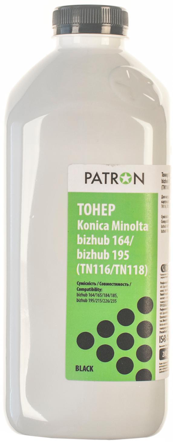 Купить Тонер Patron for Konica Minolta Bizhub 164/165/185/195 (TN116/TN118) (Флакон 280g), T-PN-MBH164-280
