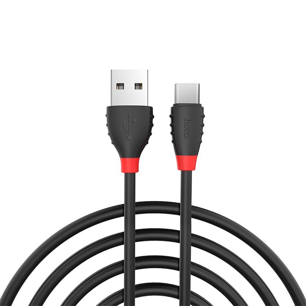 Купить USB кабелі та розгалужувачі, Кабель Hoco X27 Excellent AM / Type-C 1.2m Black (00000006517)