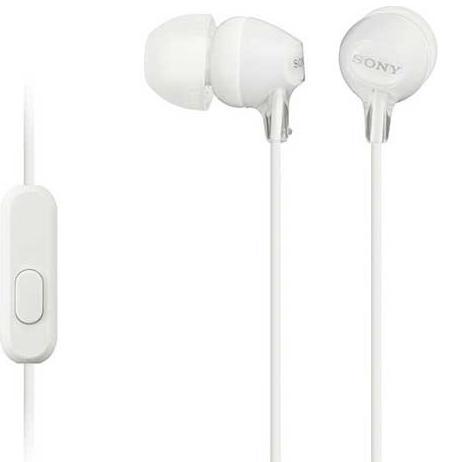 Купить Гарнітура Sony MDR-EX15AP Mic MDREX15APW.CE7 White