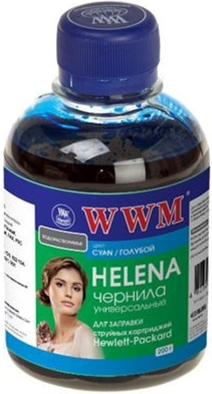Купить Чорнило WWM HU/C HELENA HP Universal блакитне, HU/C_200g