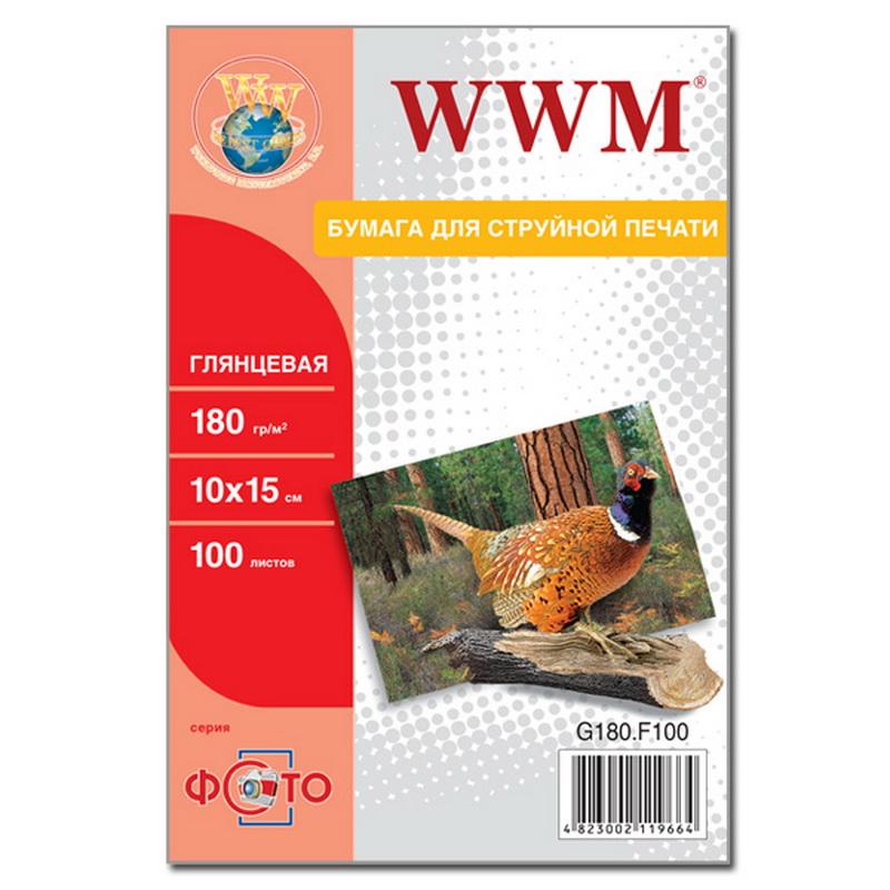Купить Фотопапір 10х15 WWM 100 аркушів (G180.F100)