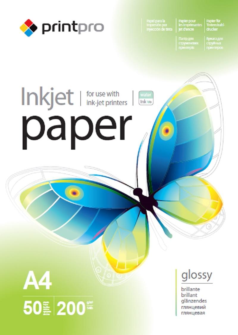 Купить Фотопапір A4 PrintPro 50 аркушів (PGE200050A4)