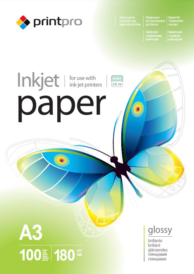 Купить Фотопапір A3 PrintPro 100 аркушів (PGE180100A3), ColorWay