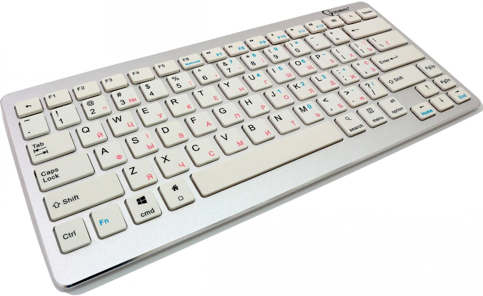 Клавіатура Gembird KB-6411BT-UA біла  - купить со скидкой