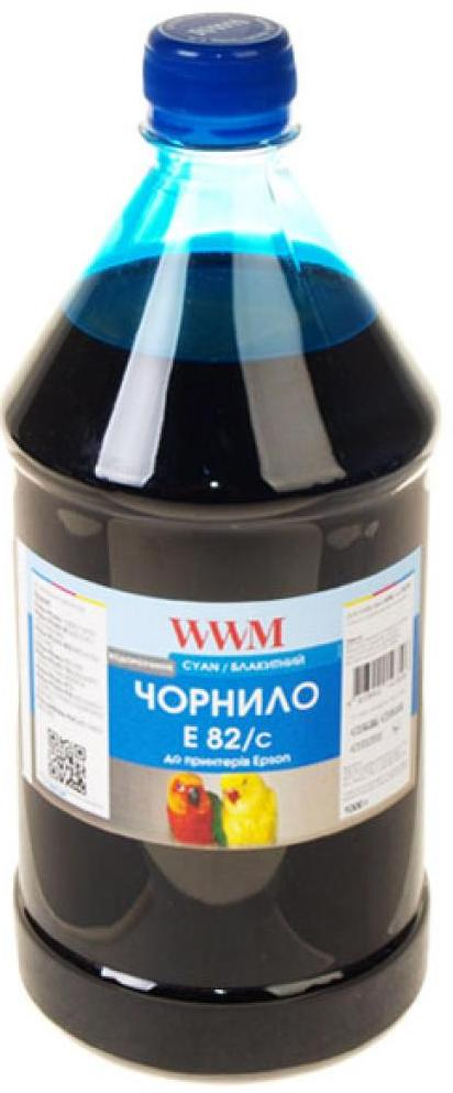 Чорнило WWM E82/C-4 Epson Stylus Photo T50/P50/PX660 1000 г блакитне  - купить со скидкой