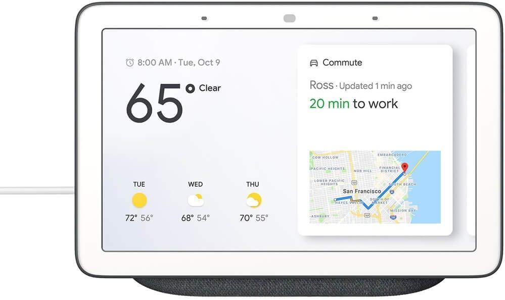 Купить Смарт-колонка дисплей Google Home Hub Charcoal, AU - GA00515-US