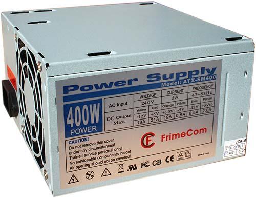 Купить Блоки живлення для ПК, Блок живлення FRIMECOM SM400 BL/LE 400W w/o cable (FC SM400 BL/LE 12cm W/O cable)