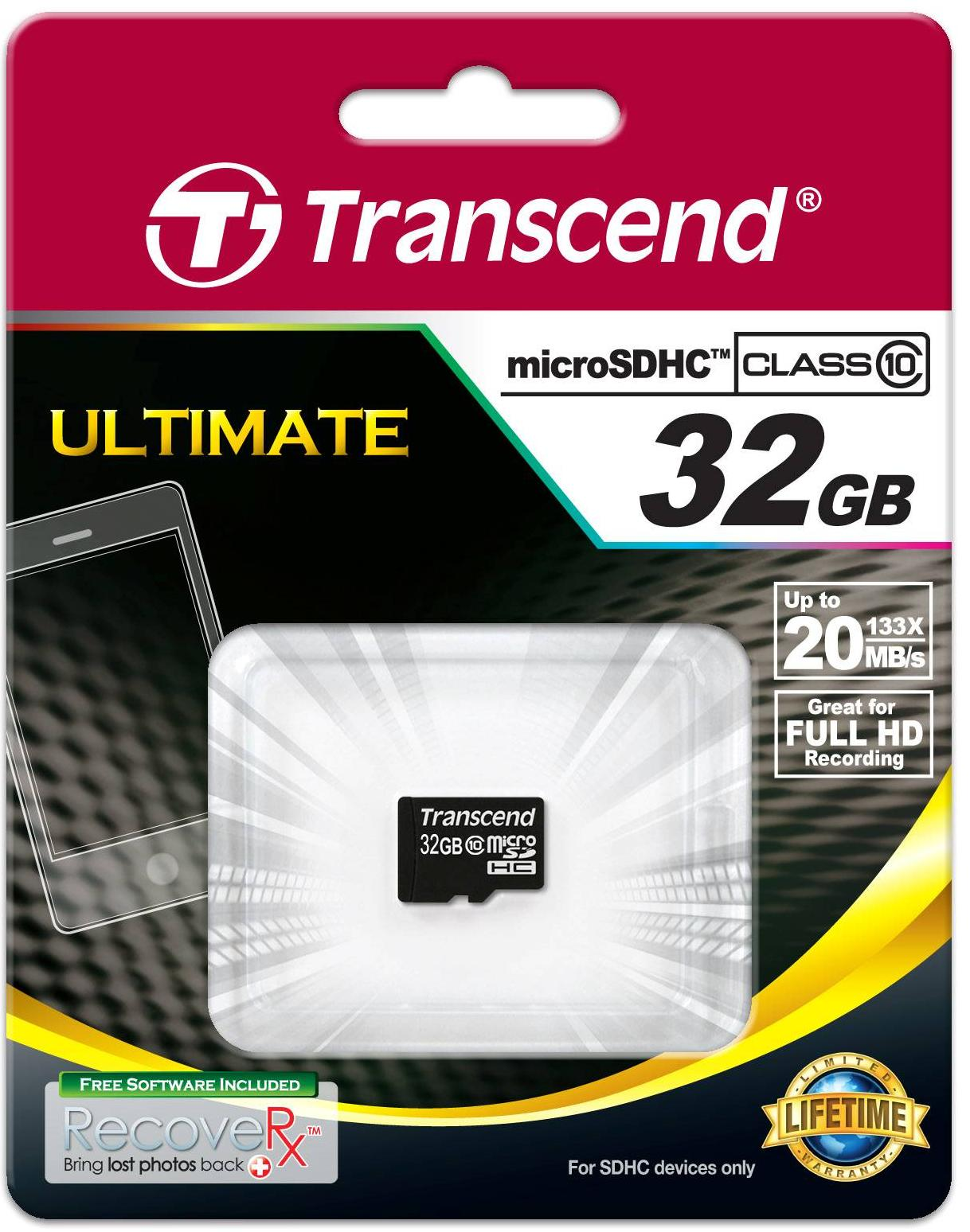 Купить Карта пам'яті Transcend Micro SDHC 32 ГБ (TS32GUSDC10)