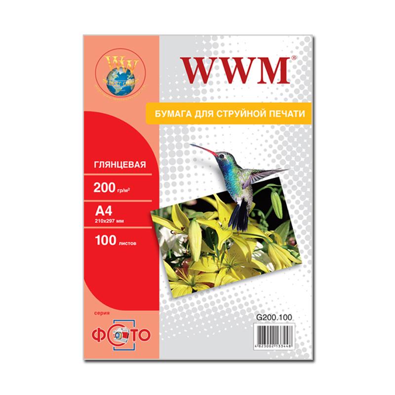 Купить Фотопапір А4 WWM 100 аркушів (G200.100)