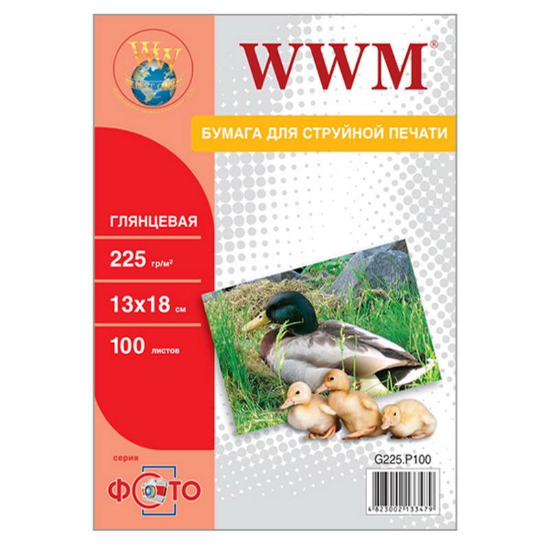 Купить Фотопапір 13х18 WWM 100 аркушів (G225.P100)