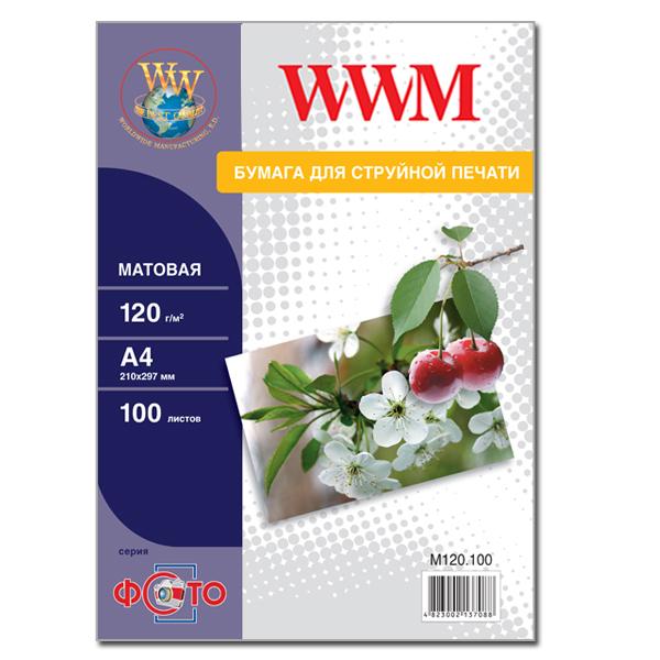 Купить Фотопапір А4 WWM 100 аркушів (M120.100)
