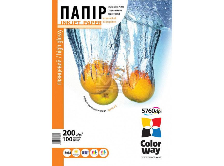 Купить Фотопапір 13х18 Colorway 100 аркушів (PG200-100), PG2001005R