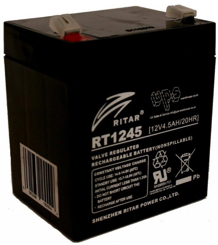 Купить Батареї для ПБЖ (UPS), Батарея для ПБЖ Ritar RT1245 12V-4, 5AH