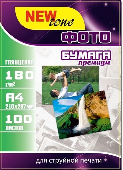 Купить Фотопапір А4 NewTone 100 аркушів (G180.100N)