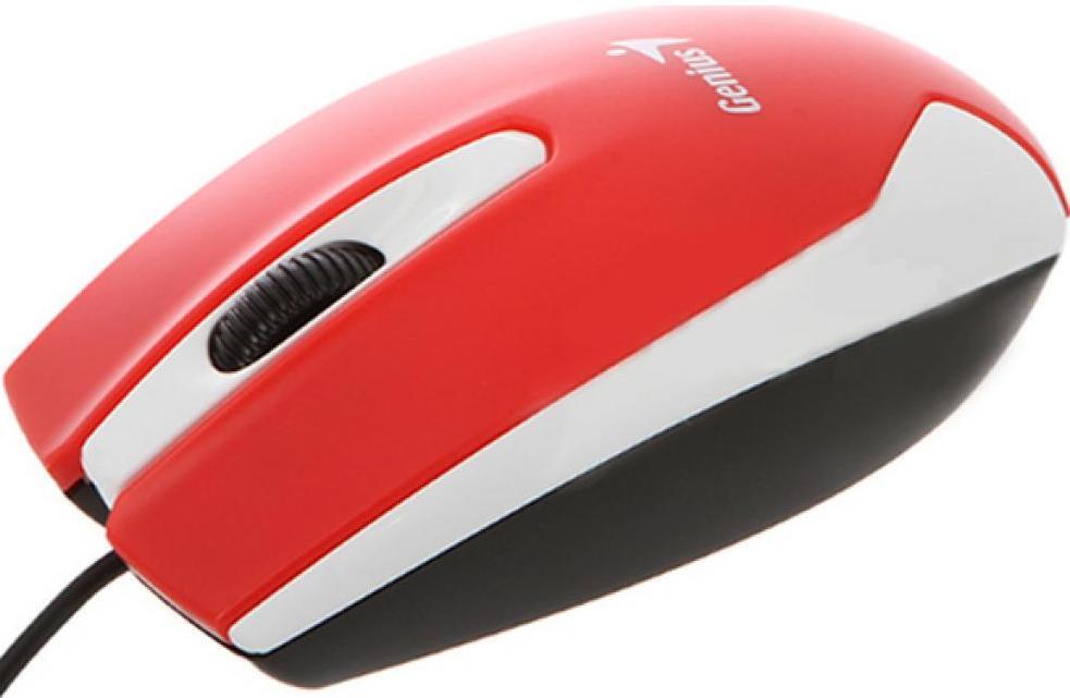 Мишка Genius DX-100X червона, 31010229101  - купить со скидкой